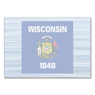 Wisconsinite Flag Floating on water Card