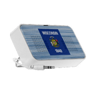 Wisconsinite Flag Floating on water iPod Speakers