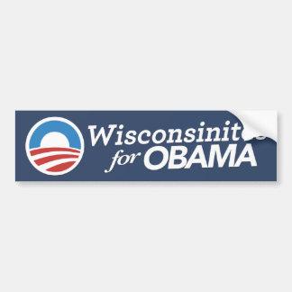 Wisconsinites For Obama Sticker CUSTOM COLOR