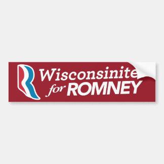 Wisconsinites For Romey Sticker CUSTOM COLOR Bumper Sticker