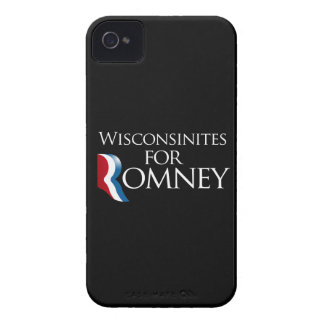 Wisconsinites for Romney -.png iPhone 4 Case-Mate Case