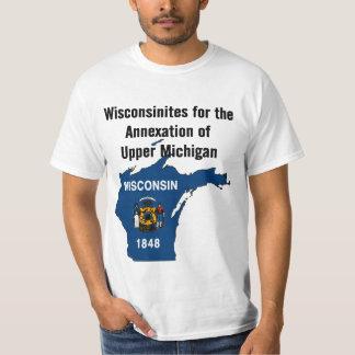 Wisconsinites para la anexión de Michigan superior Playeras