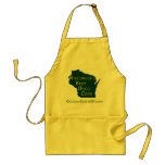Wisconsin's Best Grill Cook -  Green/Yellow Apron