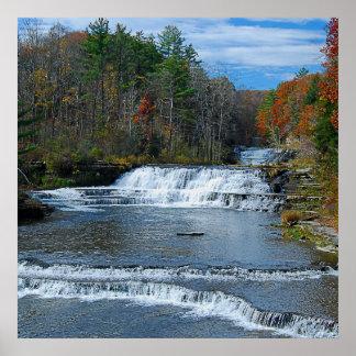 Wiscoy Creek Falls Poster
