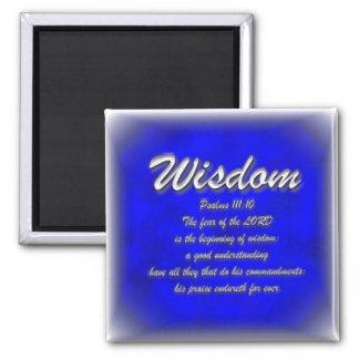Wisdom 2 Inch Square Magnet