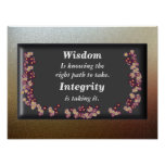 Wisdom and Integrity Print