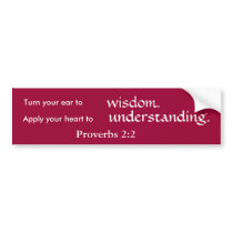 Wisdom and Understanding Bumper Sticker