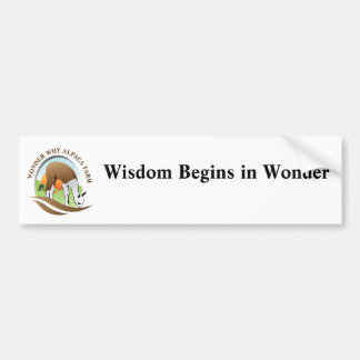 Wisdom Begins In Wonder Bumper Sticker