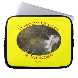 Wisdom Begins in Wonder Laptop Computer Sleeves