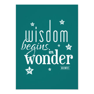 Wisdom Begins In Wonder Quote Card
