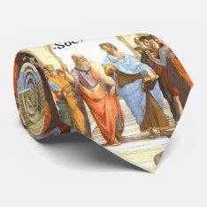 Wisdom Begins In Wonder - School Of Athens Tie at Zazzle