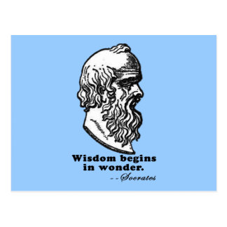 Wisdom Begins in Wonder Socrates Quote Tshirt Postcard
