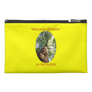 Wisdom Begins in Wonder Travel Accessories Bag