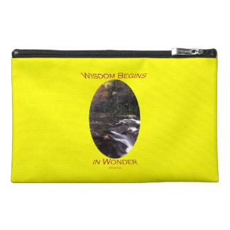 Wisdom Begins in Wonder Travel Accessories Bags