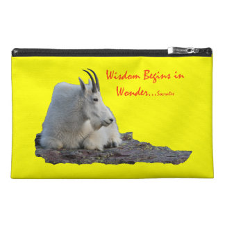 wisdom begins in wonder travel accessory bag