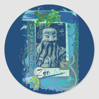 Wisdom Blue Classic Round Sticker