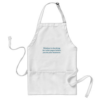 Wisdom (blue toilet bowl) adult apron