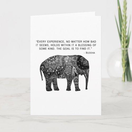 Wisdom Buddha Elephant Card