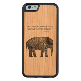 Wisdom Buddha Elephant Phone Carved® Cherry iPhone 6 Bumper Case