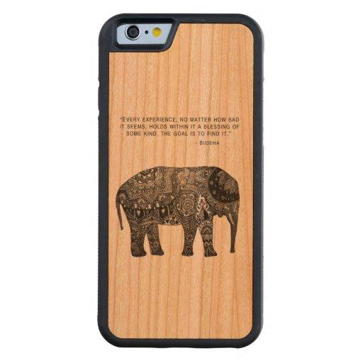 Wisdom Buddha Elephant Phone Carved® Cherry iPhone 6 Bumper Case
