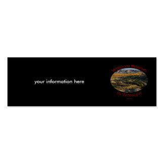 wisdom Double-Sided mini business cards (Pack of 20)