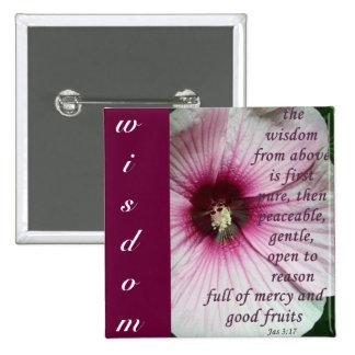 Wisdom 2 Inch Square Button