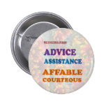 Wisdom Checklist: ADVICE assistance affable kind Pins