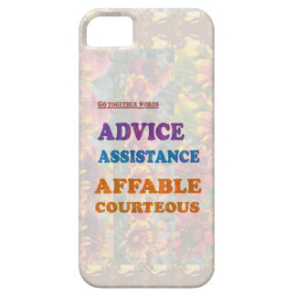 Wisdom Checklist ADVICE assistance affable kind iPhone 5 Case