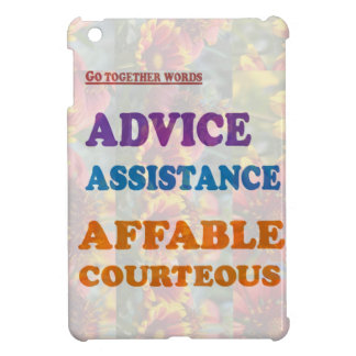 Wisdom Checklist ADVICE assistance affable kind Cover For The iPad Mini