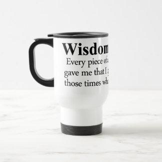 Wisdom Definition 15 Oz Stainless Steel Travel Mug