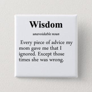 Wisdom Definition Pinback Button