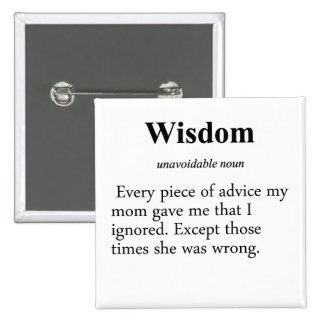 Wisdom Definition Pinback Button