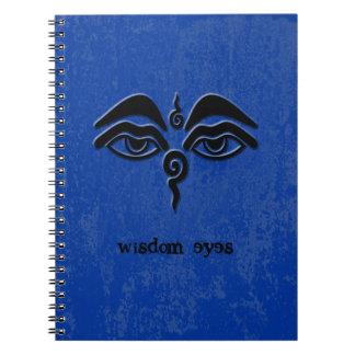 wisdom eyes - black spiral notebook