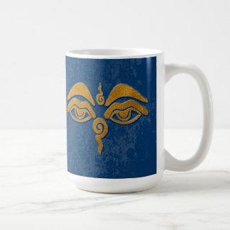 wisdom eyes - gold coffee mug
