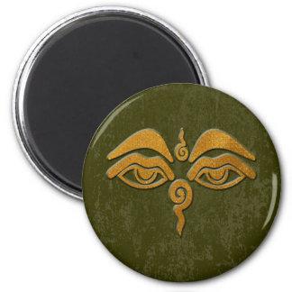 wisdom eyes - gold magnet