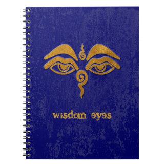wisdom eyes - gold notebook