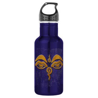 wisdom eyes - gold stainless steel water bottle