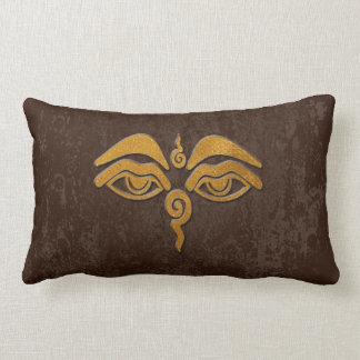 wisdom eyes - gold throw pillows