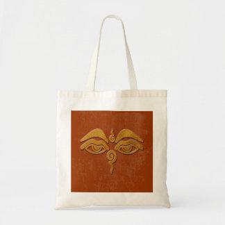 wisdom eyes - gold tote bag