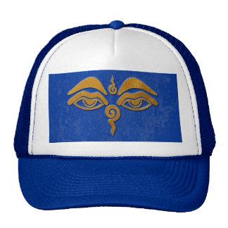 wisdom eyes - gold trucker hat