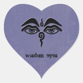 wisdom eyes heart sticker