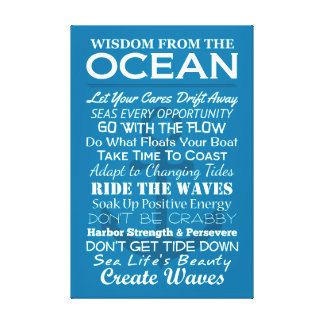 Wisdom From the Ocean Canvas Print