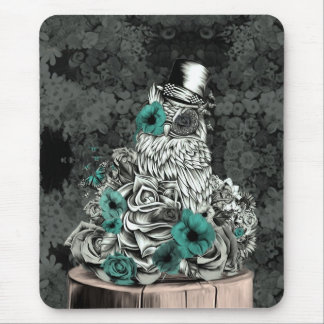 Wisdom in nature floral owl mouse pad