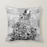 Wisdom in nature floral owl throw pillow