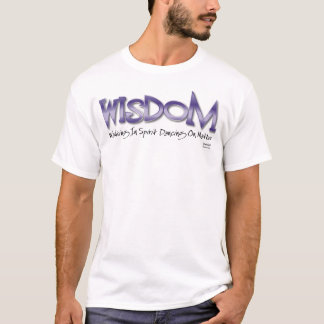 WISDOM in Purple T-Shirt
