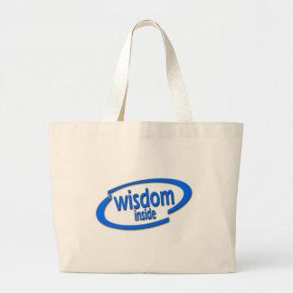 Wisdom Inside - Funny Intel Parody Tote Bags