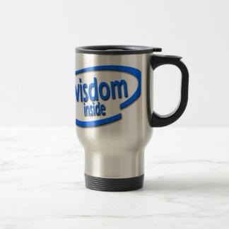 Wisdom Inside - Funny Intel Parody Travel Mug