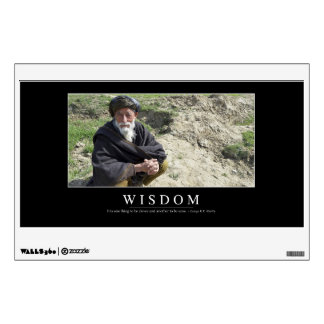 Wisdom: Inspirational Quote 1 Wall Decal