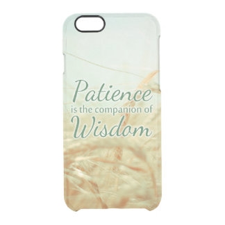 Wisdom Inspirational Quote Clear Phone Case