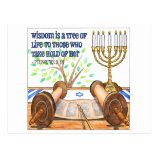 Wisdom is a Tree of Life Inspirational Postcard